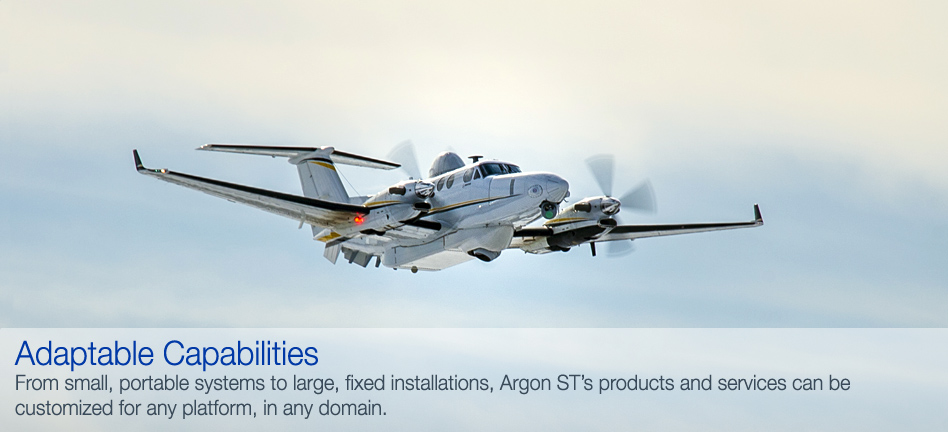 From small, portable systems to large, fixed installations, Argon ST's products and services can be customized for any platform, in any domain.